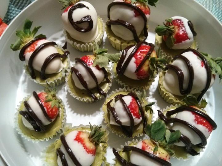 Green Tea MiniCheesecakes