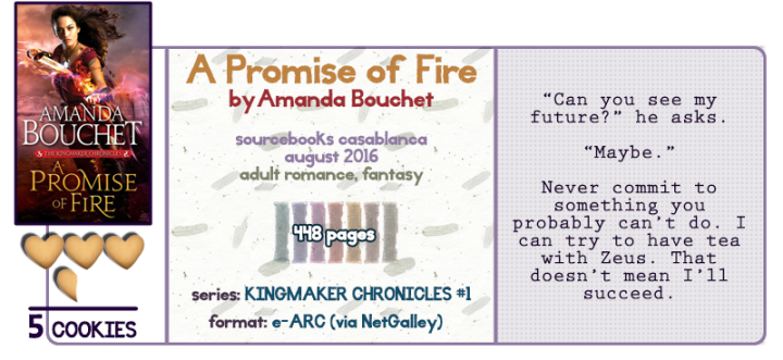 Dragons, Gods, and Other Steamy Bits || A Promise of Fire Review