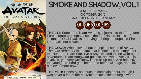 Mini Reviews: Avatar the Last Airbender – Smoke and Shadow