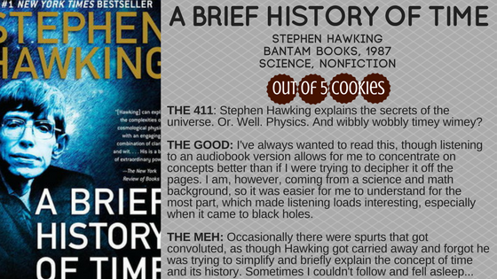 Mini-Reviews: A Brief History of Time, A Life inParts