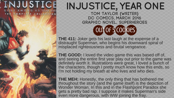 Mini Reviews: Injustice Year One, Skinwalker