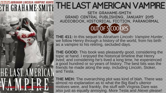 Mini Reviews: The Last American Vampire, Sin in the Second City