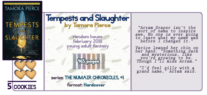 Tortall Just How I Like It || Tempests and Slaughter Review