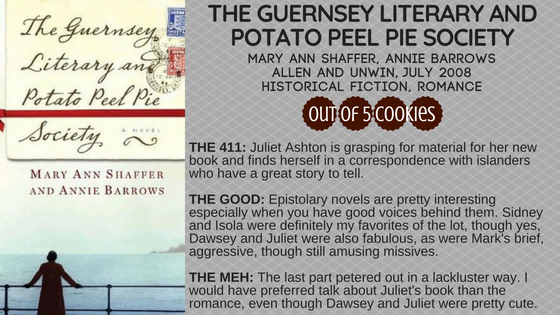 Mini Reviews: Beastkeeper, Guernsey Literary and Potato Peel Pie Society