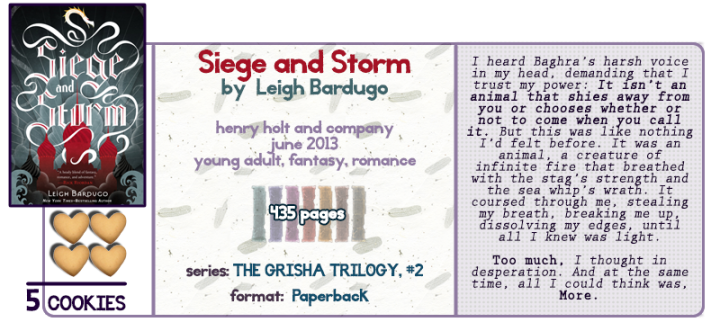 Damn Those Second Book Syndromes || Siege and Storm Review