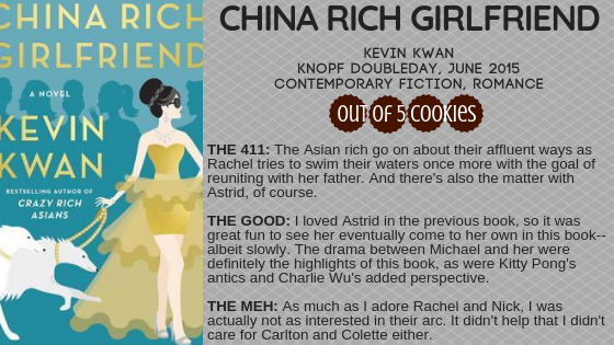 Mini Reviews: China Rich Girlfriend, The Sun Is Also a Star