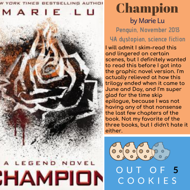 Mini Reviews: Champion by MarieLu