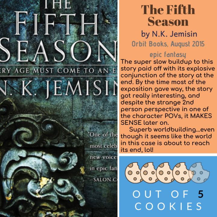 Mini Reviews: The Fifth Season, Fire Keeper'sDaughter